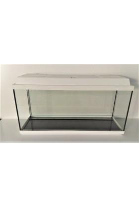 Kanki Pet Akvaryum 80 cm Beyaz Düz Tam Kapaklı 80 x 29 x 40 cm (95 litre)