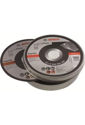 Bosch Rapido 100'Lü Kutu Inox Standart Seri Kesme Diski 115*1