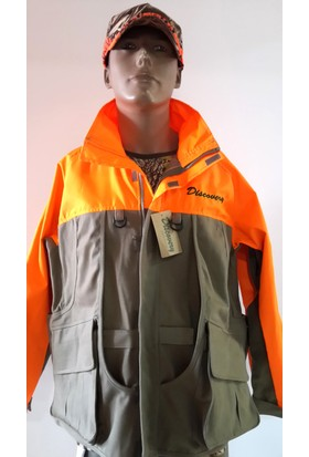 Discovery Gri Renk Oranjlı Ceket