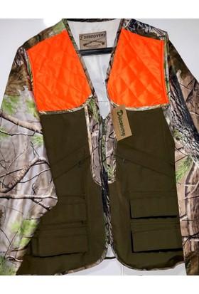 Discovery Mevsimlik Uzun Kollu Realtre Oranjlı Avcı Yeleği