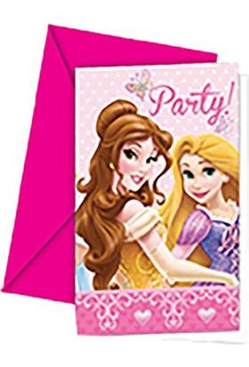 Tahtakale Toptancısı Prensesler Summer Palace Parti Davetiyesi (6 Adet)
