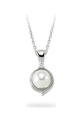 Sare Pırlanta Altın İnci Kolye Pearl