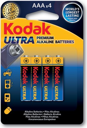 Kodak Ultra Premium ince Pil 4 Adet