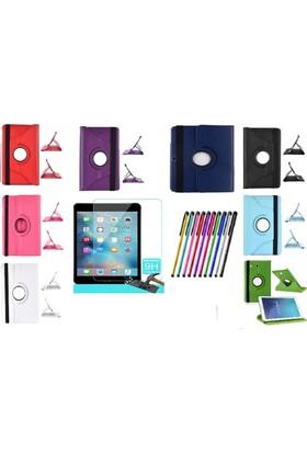 İdealtrend Apple İpad Air 360 Dönerli Tablet Kılıf + 9H Kırılmaz Cam + Kalem