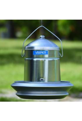 Vixpet Tavuk Yemliği Metal 12 kg Derin Tablalı