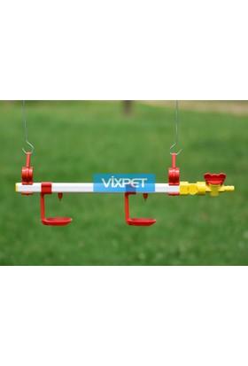 Vixpet Nipel Sulama Sistemi 40 cm 2 Damlalıklı Çanak ve Askı Aparatı