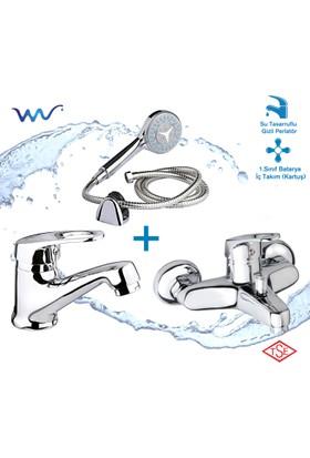 Wusluk Opera Banyo ve Lavabo Bataryası Takımı (Duş Seti Hediyeli)
