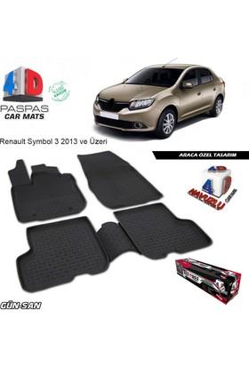 Renault Symbol 3 4D Havuzlu Paspas A+Plus 2013 Üzeri