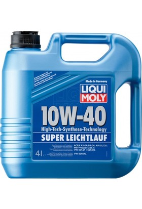 Liqui Moly 10W40 4 Litre Super Leichtlauf Motor Yağı