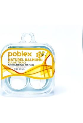 Poblex Naturel Balmumu Kulak Tıkacı - Kulak Koruyucu Tıpası 4'lü
