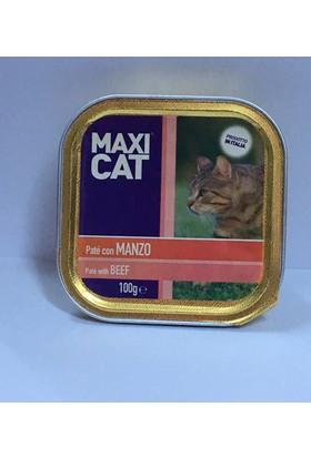 Maxı Cat Sığır Etli Kedi Pate 100 Gr
