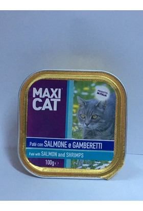 Maxı Cat Karidesli Somonlu Kedi Pate 100 Gr