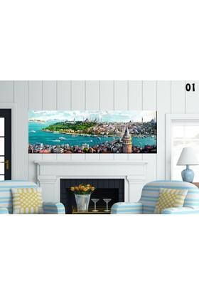 Pia 50x150 cm Kanvas Tablo