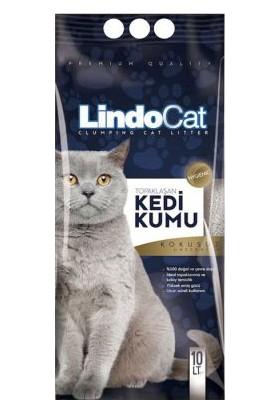 Lindo Cat Topaklaşan İnce Taneli Hijyenik Kedi Kumu 10LT