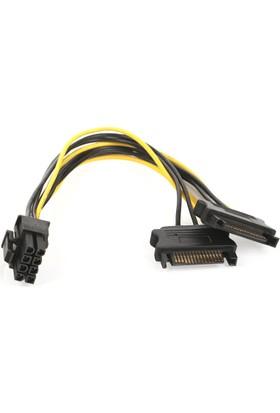 Dark 2xSata / 6+2Pin PCI-E Dönüştürücü Güç Kablosu (DK-CB-P203)