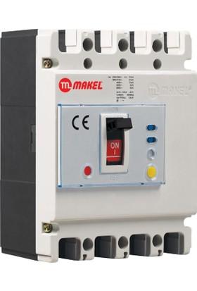 Makel Kaçak Akım Korumalı Kompakt Şalter 4X80 A. (Açtırma Bobinli)
