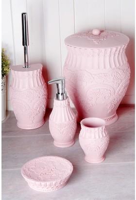 Queen'S Kitchen Polyester 5 Parça Lüx Çöp Kovalı Banyo Seti