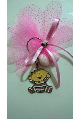 Süslü Şekerleme Pijamalı Bebek Anahtarlık Bebek Şekeri