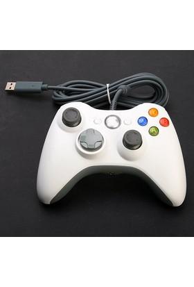 Microsoft Xbox 360 Common Controller Win Kablolu Uzaktan Kumanda (Hem Pc Hemde Xbox 360 Uyumlu) Beyaz