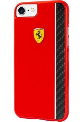 Ferrari Apple iPhone 7 Kılıf Authentic Ferrari Paddock Glossy & Carbon Fiber