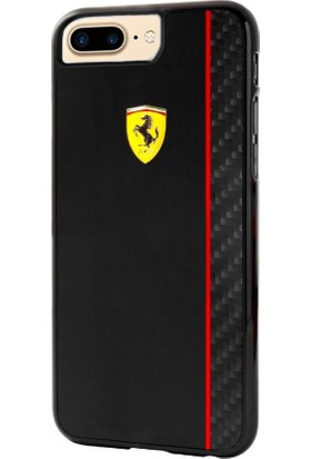 Ferrari Apple iPhone 7 Plus Kılıf Authentic Ferrari Paddock Glossy & Carbon Fiber