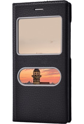 Microsonic Vestel Venüs V3 5040 Kılıf Gizli Mıknatıslı Dual View Delux