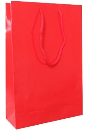Bkr Karton Çanta Kırmızı 26X38 Cm 25 Adet