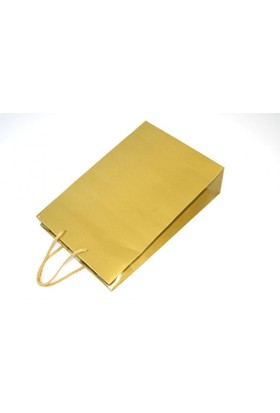 Bkr Karton Çanta Altın Sarısı 26X38 Cm 25 Adet