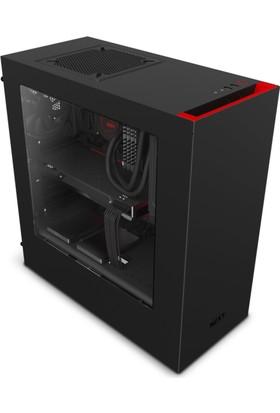 NZXT S340 Mid Tower ATX Mat Kırmızı/Siyah Kasa (PSU'suz) - CA-S340MB-GR