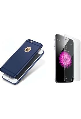Teknoarea Apple iPhone 6/6s Plus Kamera Korumalı İnce Mat Silikon Kılıf + cam