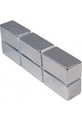 Neostrong Güçlü Neodyum Mıknatıs Dikdörtgen 20X10X10 Mm (3'Lü Paket)