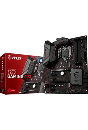 MSI Z270 Gaming M3 Intel Z270 3600MHz (OC) DDR4 Soket 1151 ATX Anakart