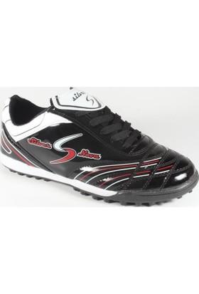 Rotax 231-Halı Saha Futbol Ayakkabısı Siyah Beyaz