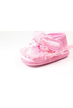 Pink Step Daisy-4 Pembe Kız Bebek İlkadım Ayakkabı