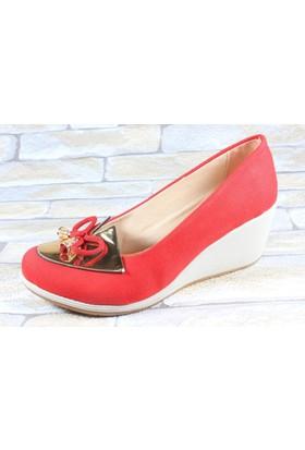 Capriss 510 Kırmızı Bayan Keten Ayakkabı
