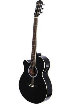 Extreme Gitar Akustik Solak Xaclh45Eq4Bk