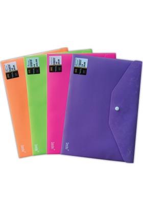 Sensho A4 Mat Fosforlu renk Çıtçıtlı Dosya