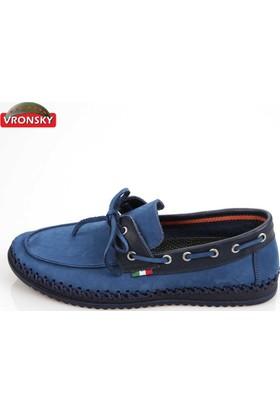 Vronsky Kc Vronky Kc Mavi Nubuk Laci Mps0320-112 Ayakkabı