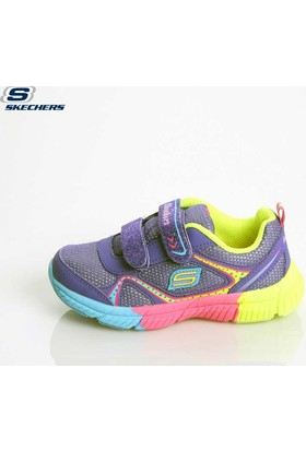 Skechers 80532N Prmt Girls Sport İnfants Swivels Purple Ayakkabı