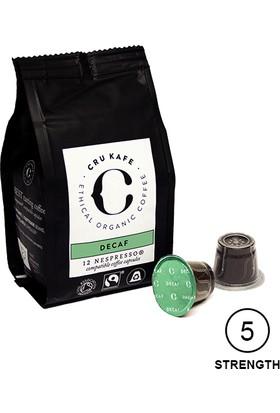 Cru Kafe %100 Organik Nespresso® Uyumlu Decaf Kapsül Kahve, 12 kapsül