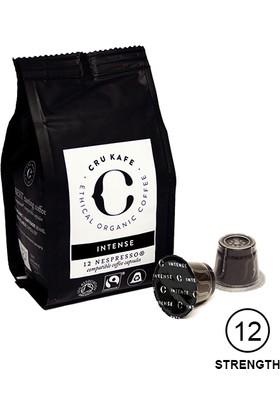 Cru Kafe %100 Organik Nespresso® Uyumlu İntense Kapsül Kahve, 12 kapsül