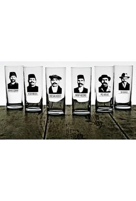 Joy Glass 6'lı İçelim Kabadayılar Rakı Bardağı Seti