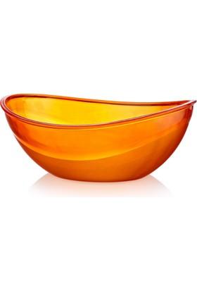Hiper Oval Kristal Meyve Kasesi 5,5Lt Asorti Renkler