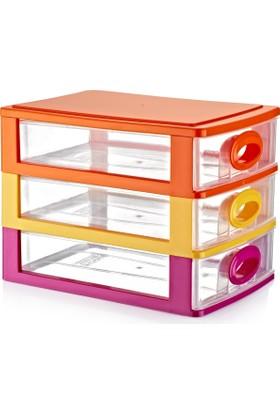 Hiper Çekmeceli Kutu No.2 (3 Katlı) Renkli