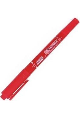 Aihao Ah-319 Çift Taraflı Cd Kalemi Renk - Kırmızı