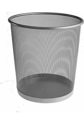 Bigpoint Metal Perfore Çöp Kovası Küçük 409 Renk - Gümüş