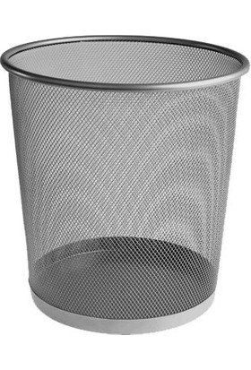 Bigpoint Metal Perfore Çöp Kovasi Siyah