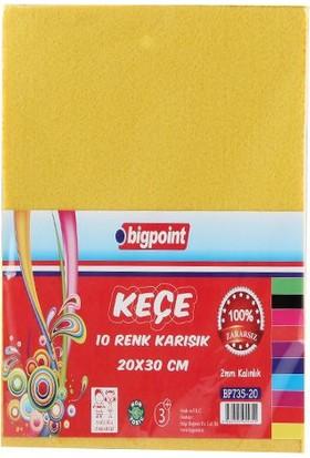 Bigpoint Bp73520 Keçe 20 x 30 Cm 10 Renk Karışık 2 Mm