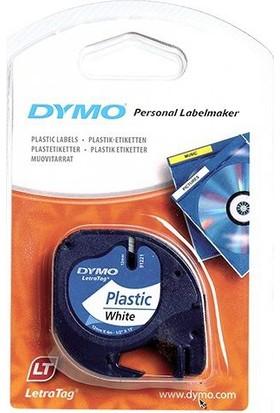 Dymo Letratag Plastik Etiket Renk - Beyaz