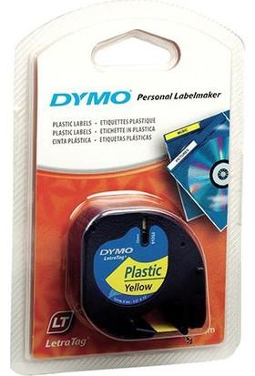 Dymo Şerit Let.Plastik 12Mmx4M Sarı 721620 59423